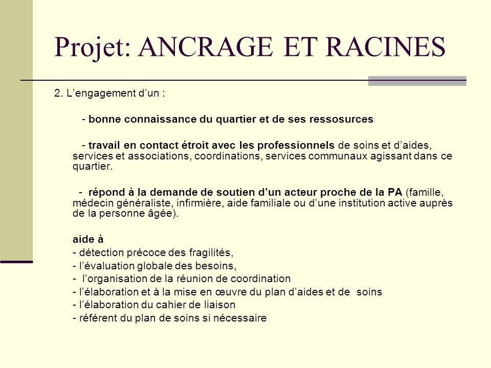 Projet: ANCRAGE ET RACINES
