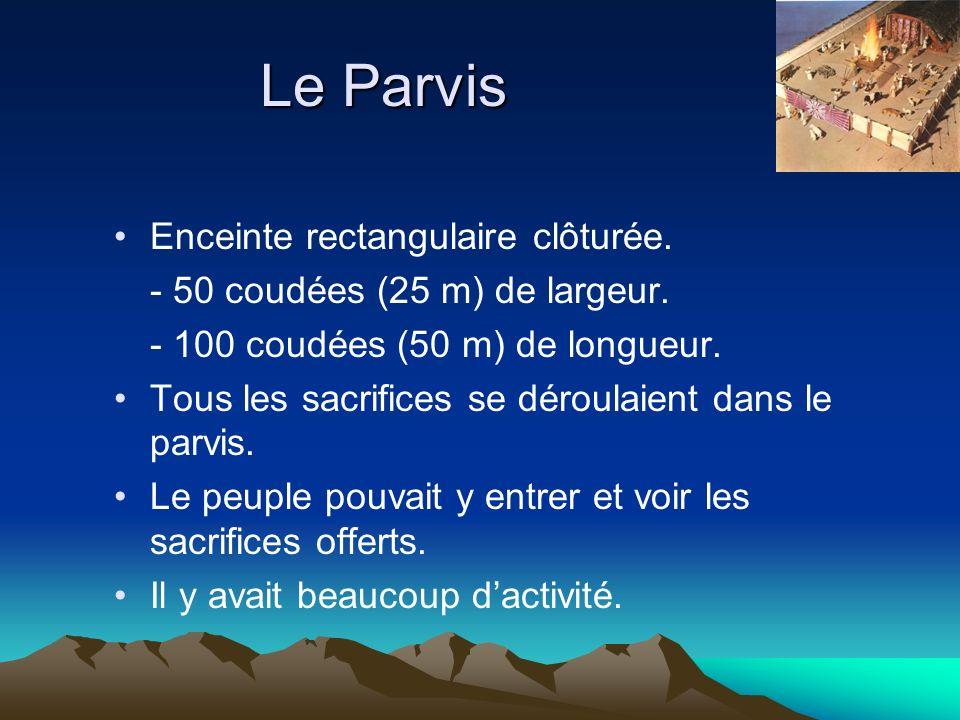 Le Parvis Enceinte rectangulaire clôturée.