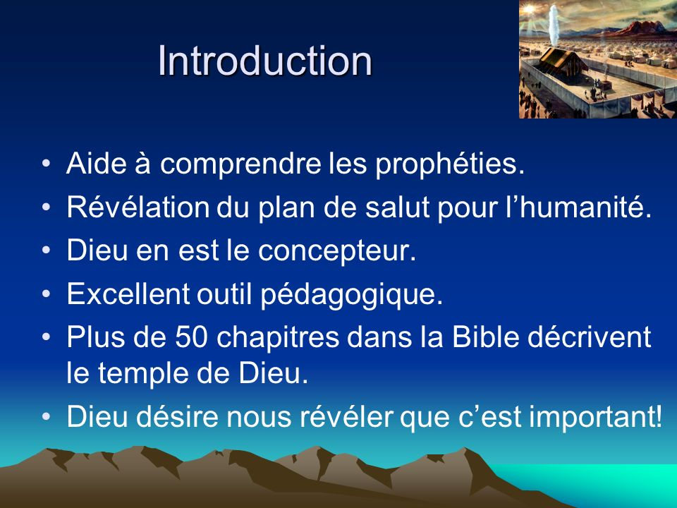 Introduction Aide à comprendre les prophéties.