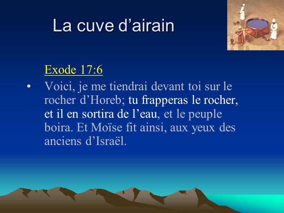 La cuve d'airain Exode 17:6