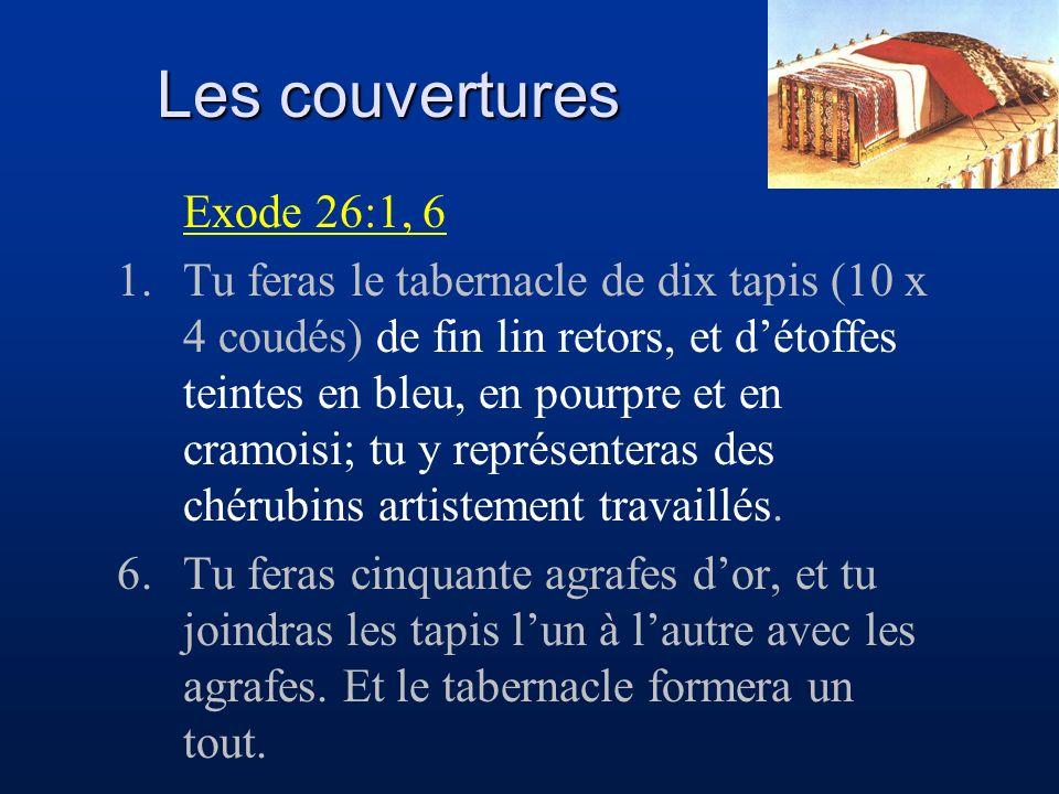 Les couvertures Exode 26:1, 6