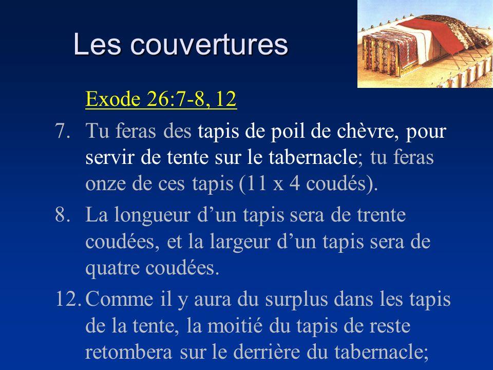 Les couvertures Exode 26:7-8, 12