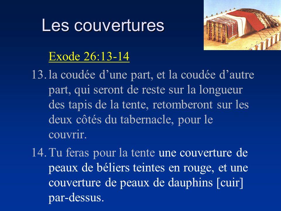Les couvertures Exode 26:13-14
