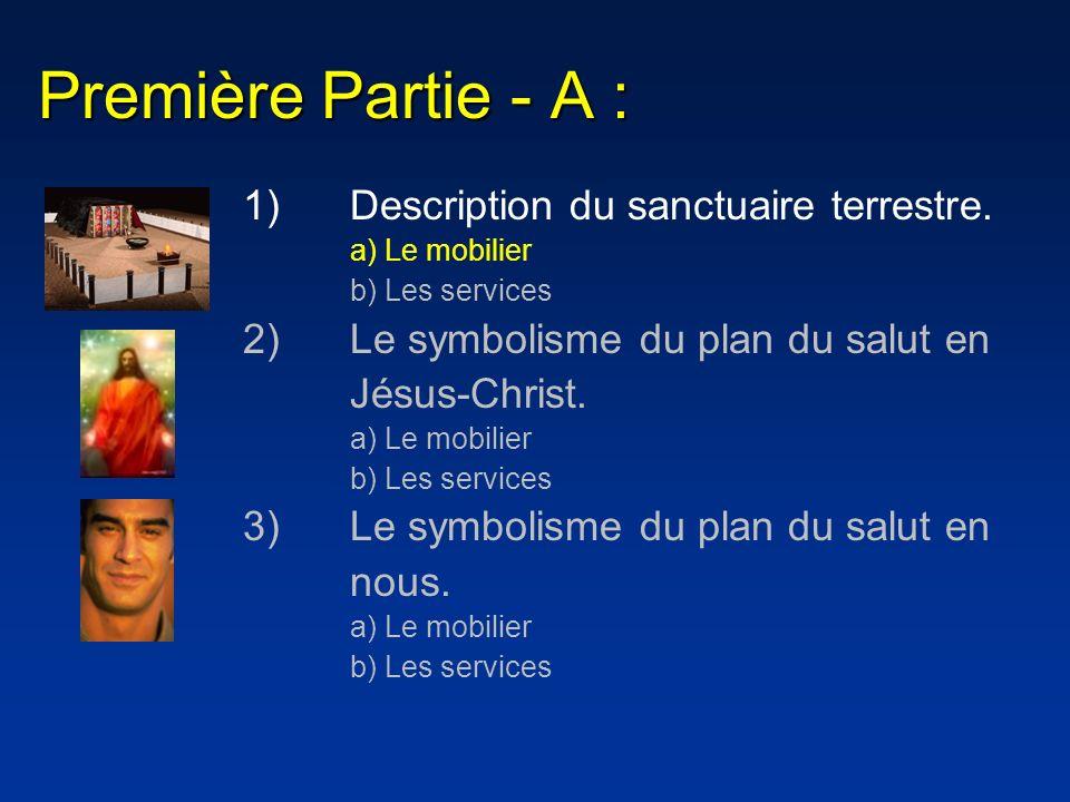 Première Partie - A : 1) Description du sanctuaire terrestre.