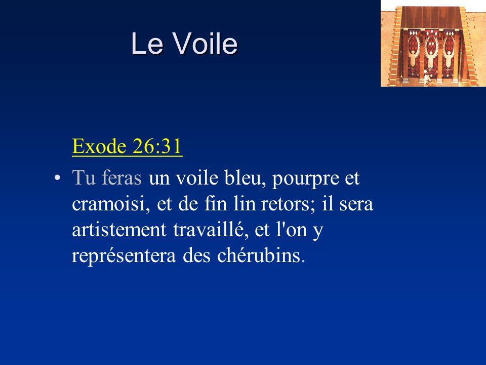 Le Voile Exode 26:31.