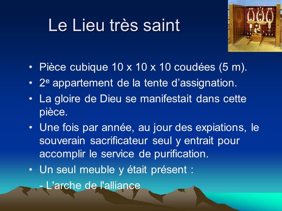 Le Lieu très saint Pièce cubique 10 x 10 x 10 coudées (5 m).