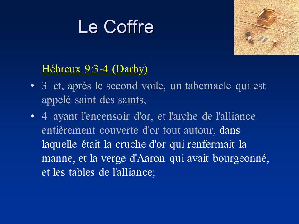 Le Coffre Hébreux 9:3-4 (Darby)