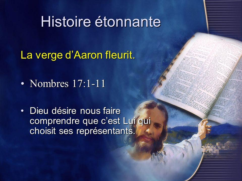 Histoire étonnante La verge d'Aaron fleurit. Nombres 17:1-11