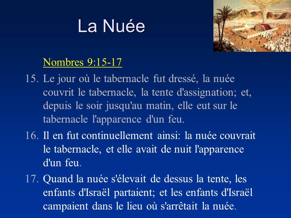 La Nuée Nombres 9:15-17.