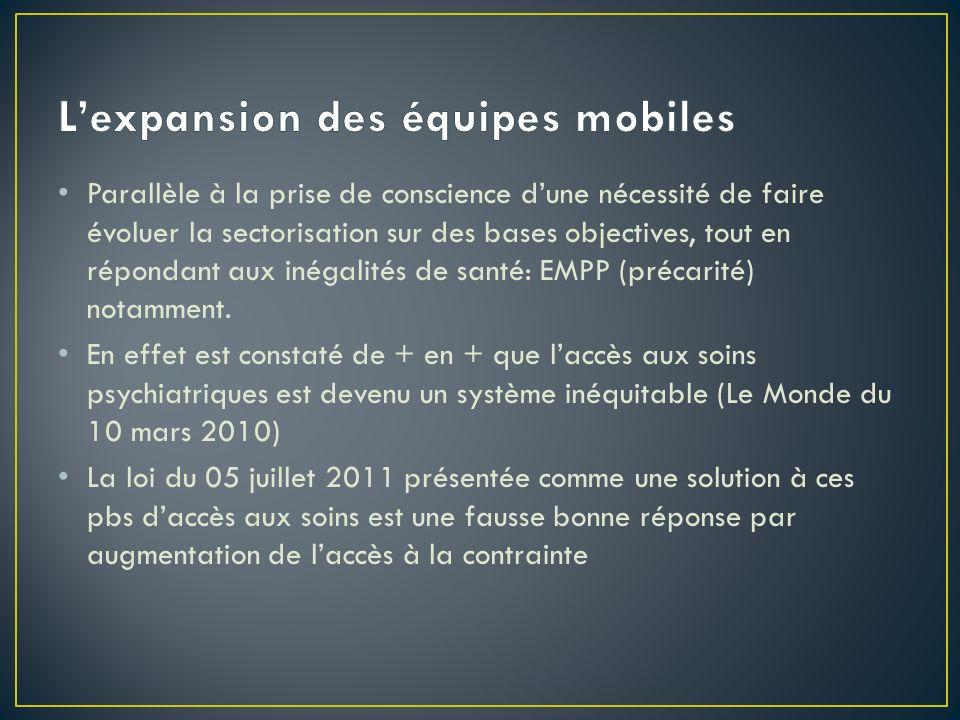 L'expansion des équipes mobiles