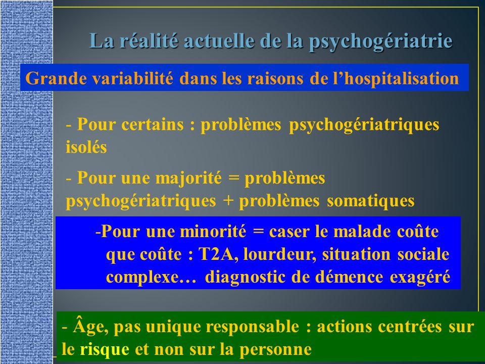 La réalité actuelle de la psychogériatrie