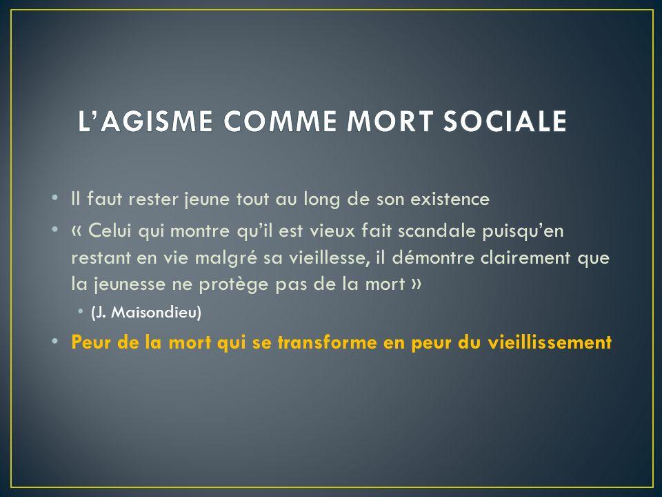 L'AGISME COMME MORT SOCIALE