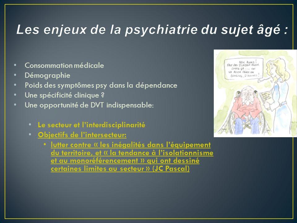 Les enjeux de la psychiatrie du sujet âgé :