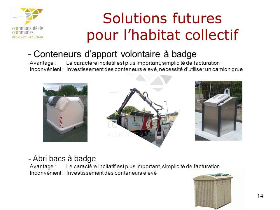 Solutions futures pour l'habitat collectif