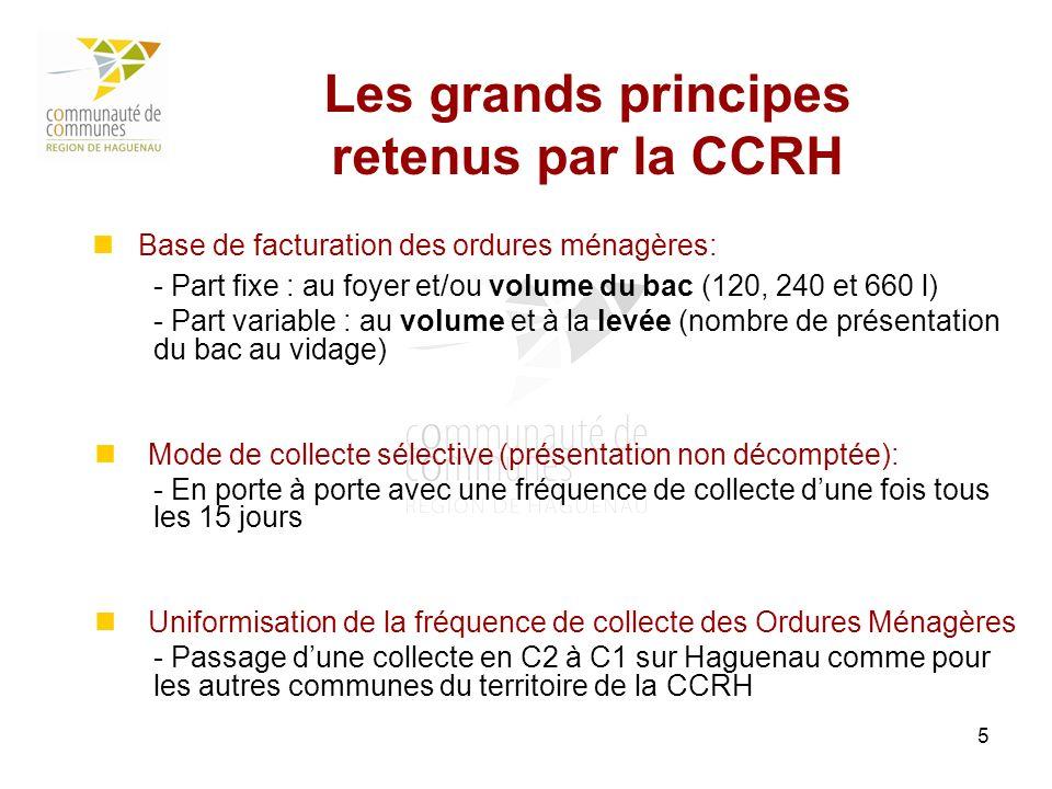 Les grands principes retenus par la CCRH