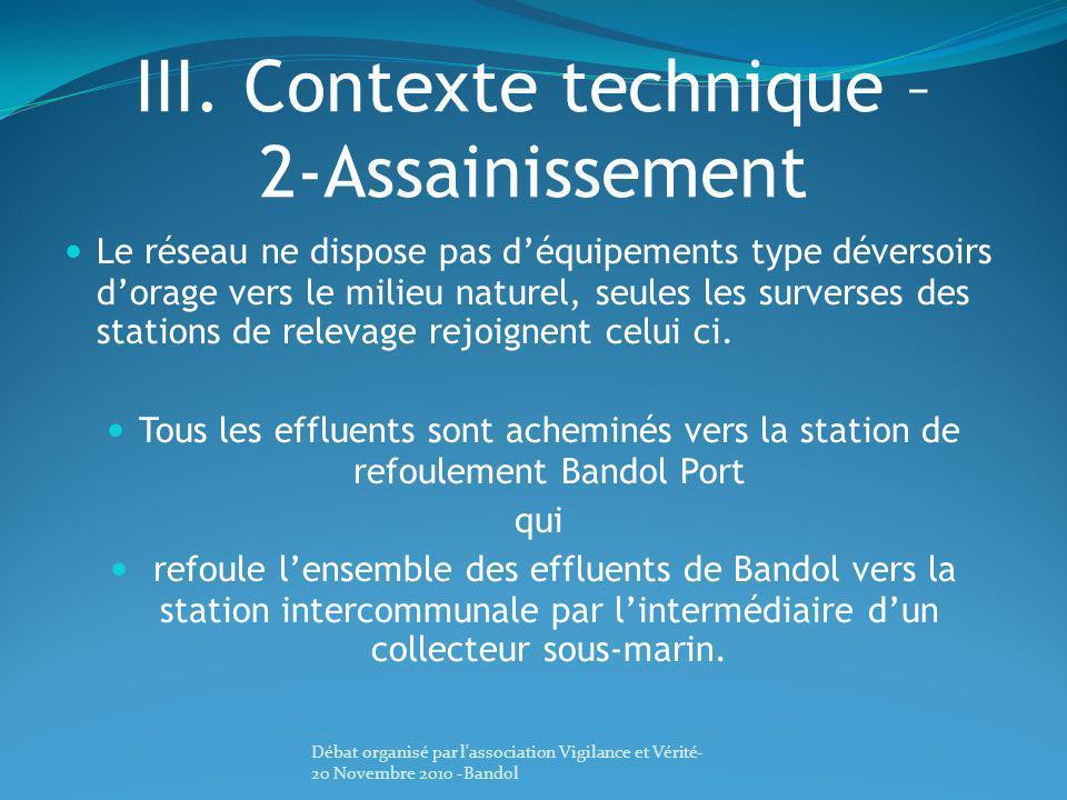 III. Contexte technique – 2-Assainissement