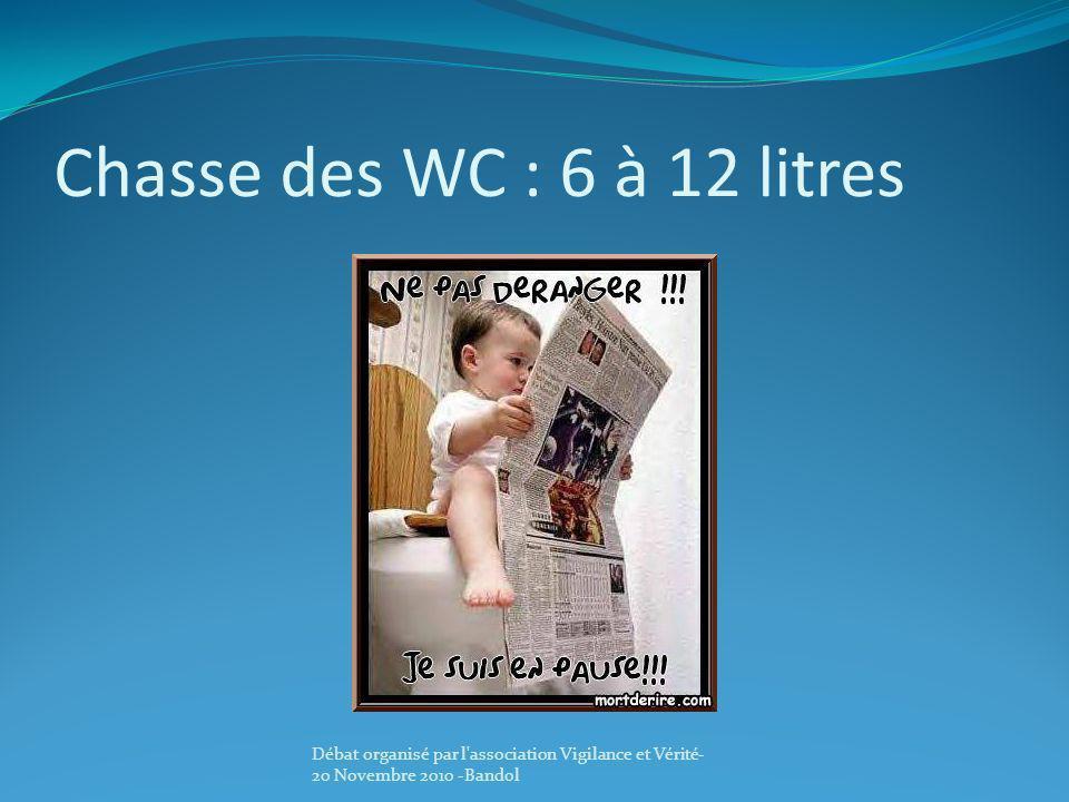 Chasse des WC : 6 à 12 litres Débat organisé par l association Vigilance et Vérité-20 Novembre 2010 -Bandol.
