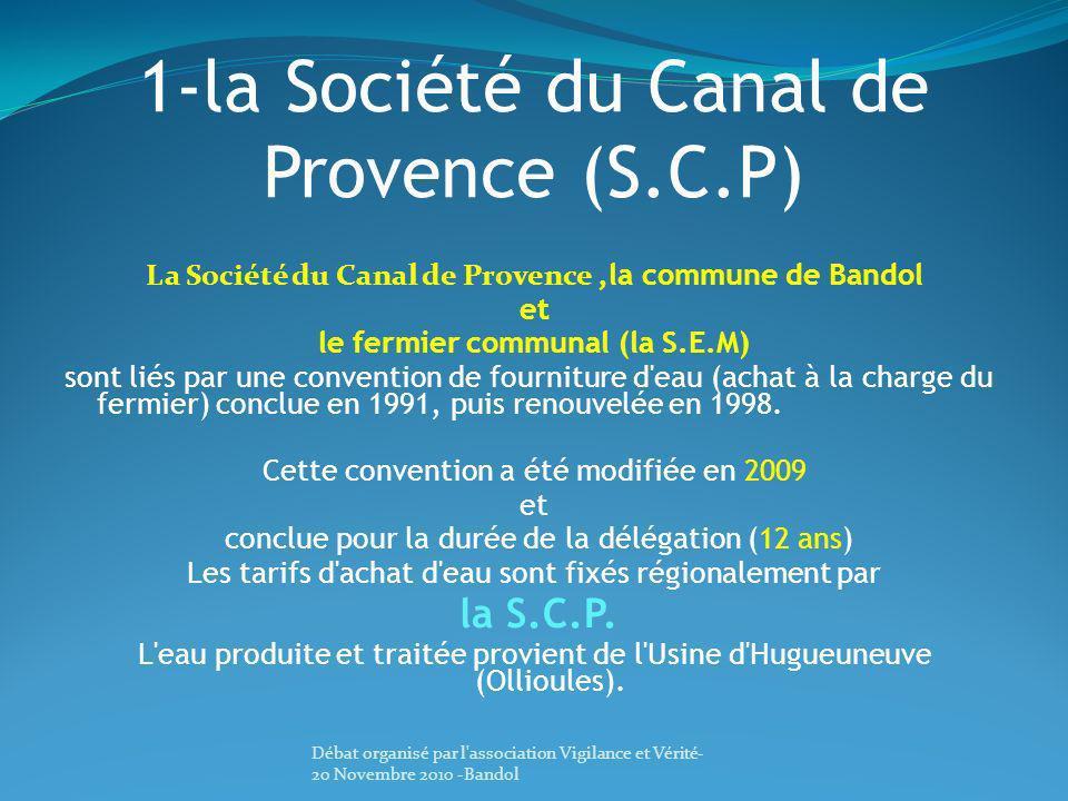 1-la Société du Canal de Provence (S.C.P)