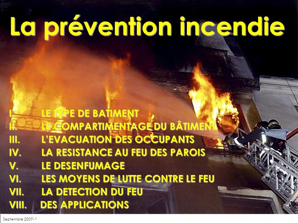 La prévention incendie