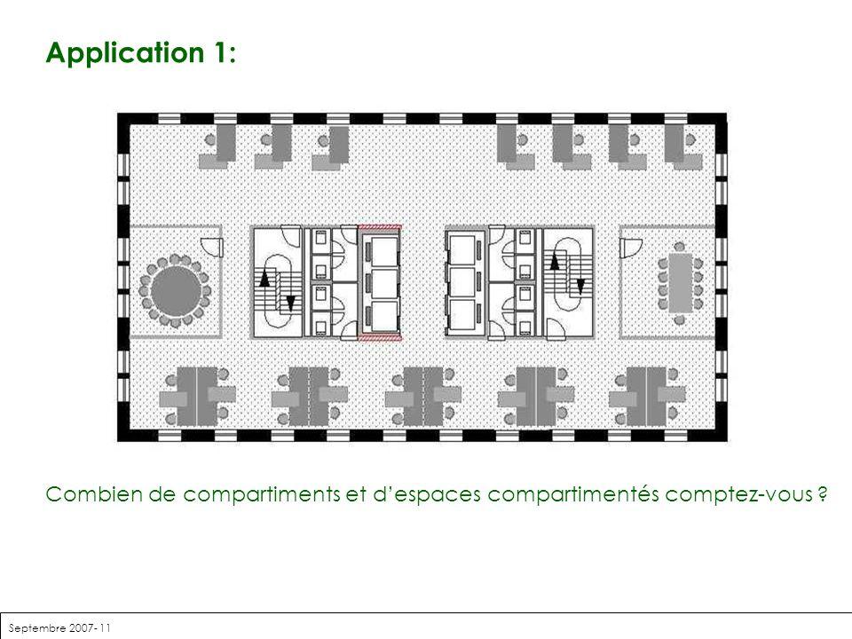 Application 1: Combien de compartiments et d'espaces compartimentés comptez-vous .