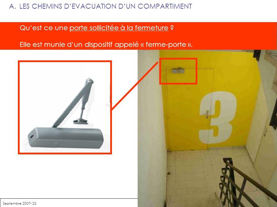 LES CHEMINS D'EVACUATION D'UN COMPARTIMENT