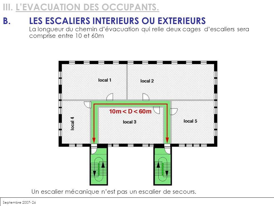 III. L'EVACUATION DES OCCUPANTS.