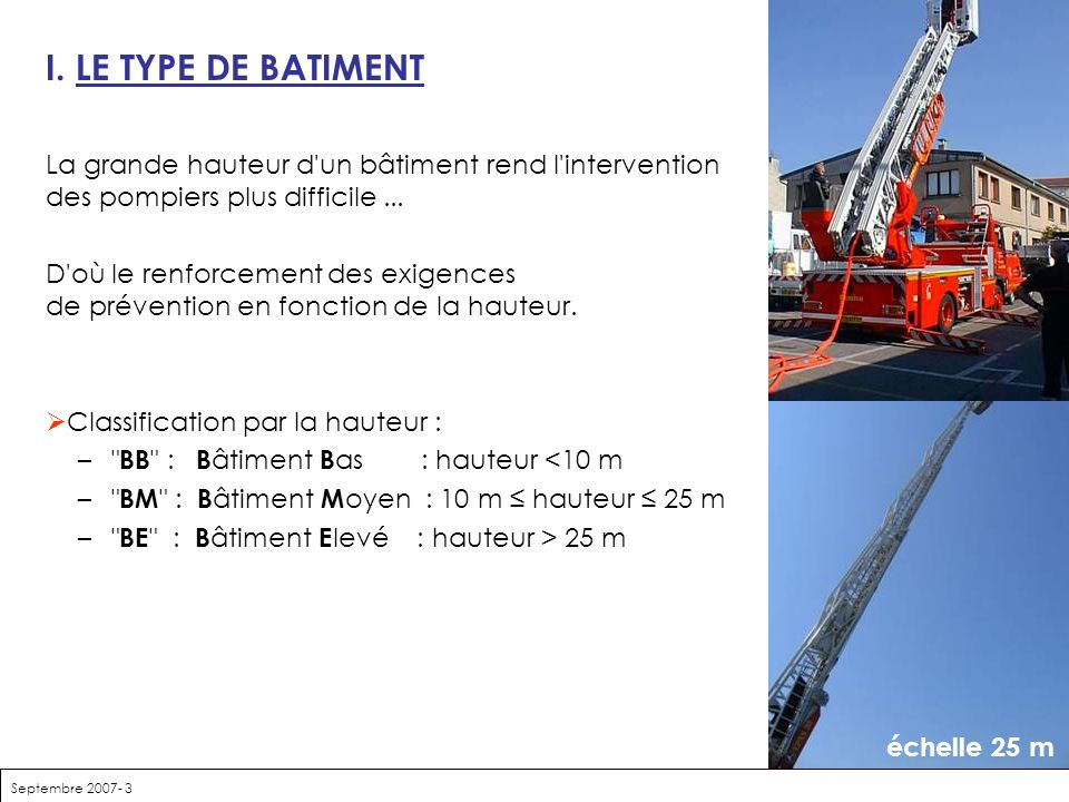 La pr vention incendie ppt t l charger for Fonction d un batiment
