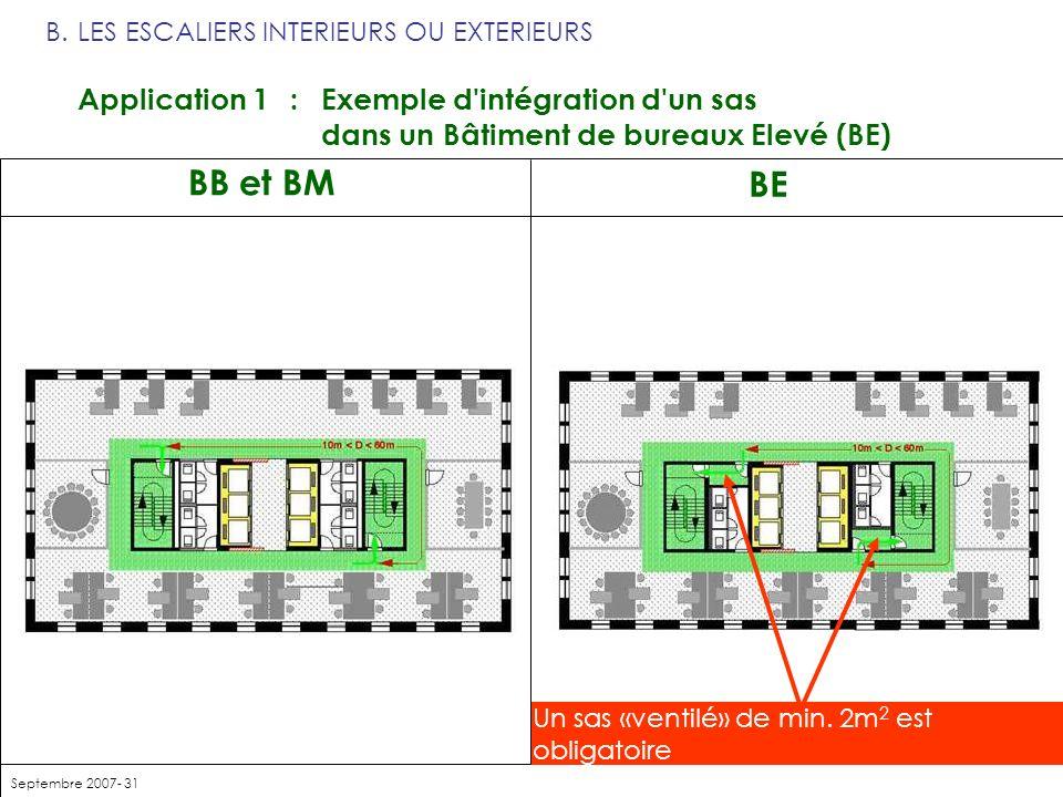 B. LES ESCALIERS INTERIEURS OU EXTERIEURS Application 1. :