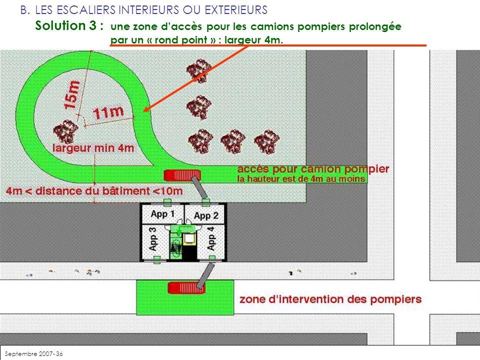 Solution 3 : une zone d'accès pour les camions pompiers prolongée
