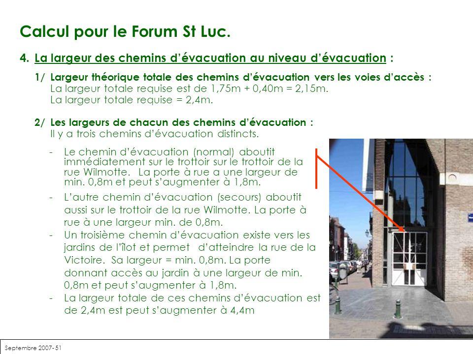Calcul pour le Forum St Luc.
