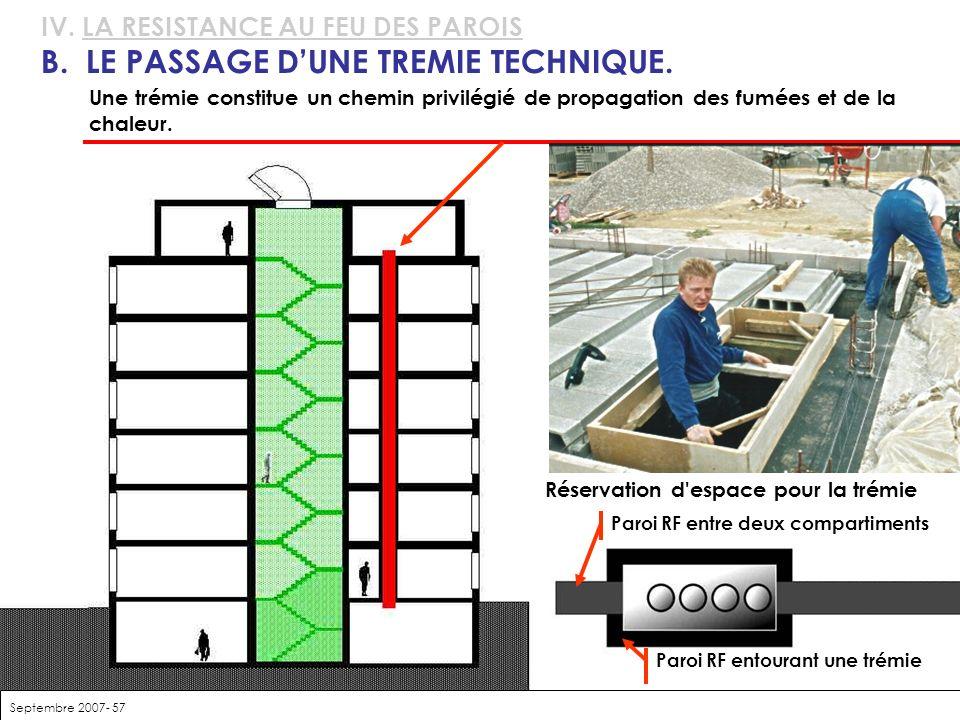 B. LE PASSAGE D'UNE TREMIE TECHNIQUE.