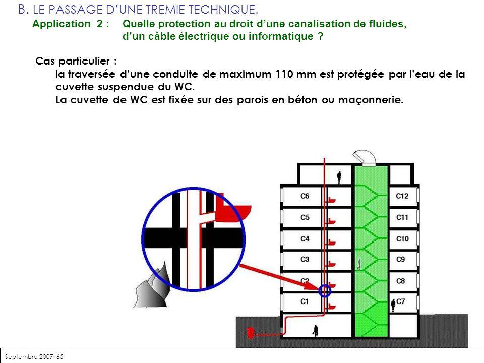 B. LE PASSAGE D'UNE TREMIE TECHNIQUE. Application 2 :