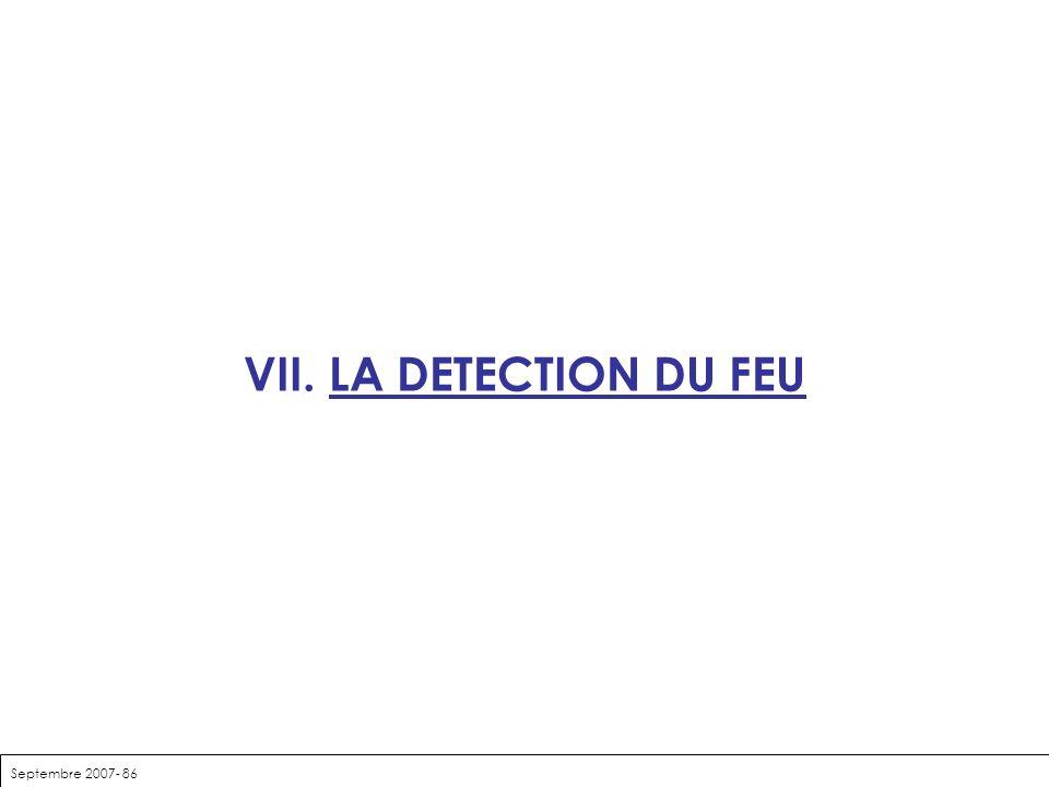 VII. LA DETECTION DU FEU Septembre 2007- 86