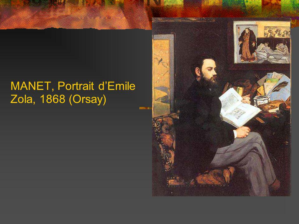MANET, Portrait d'Emile Zola, 1868 (Orsay)