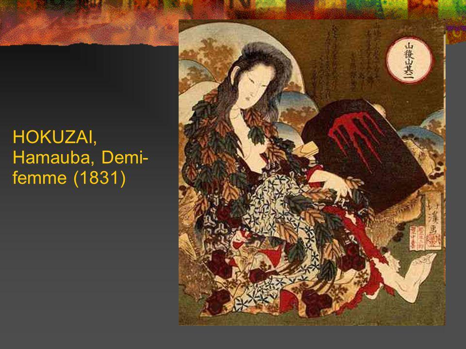 HOKUZAI, Hamauba, Demi-femme (1831)