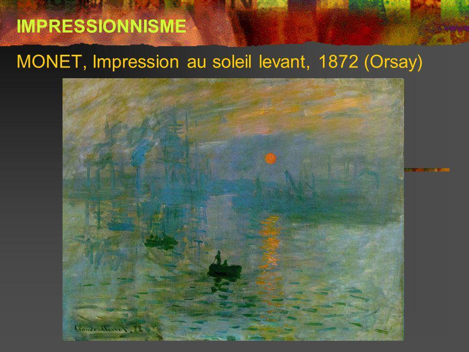 MONET, Impression au soleil levant, 1872 (Orsay)