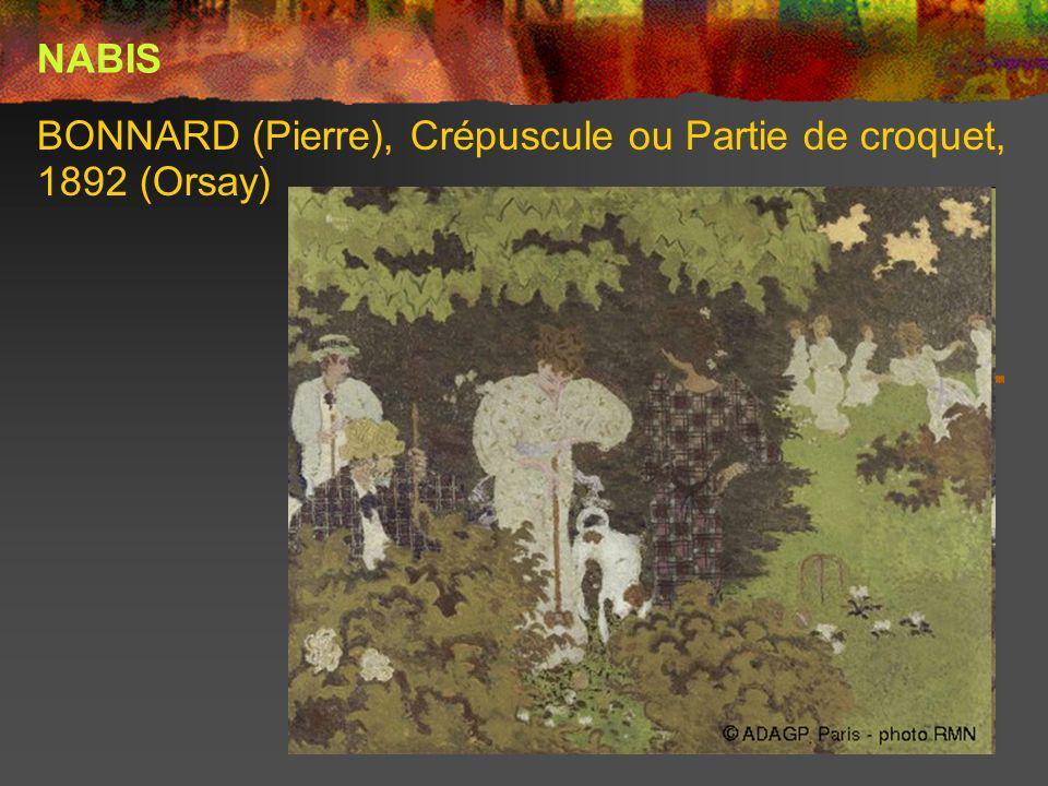BONNARD (Pierre), Crépuscule ou Partie de croquet, 1892 (Orsay)