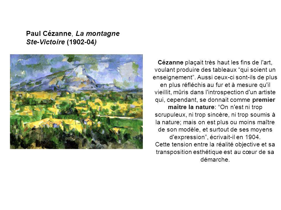 Paul Cézanne, La montagne Ste-Victoire (1902-04)