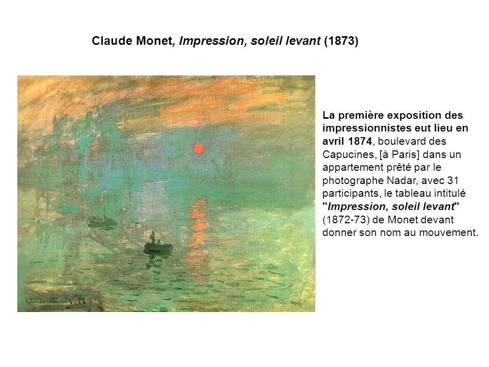 Claude Monet, Impression, soleil levant (1873)
