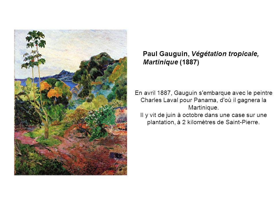 Paul Gauguin, Végétation tropicale, Martinique (1887)