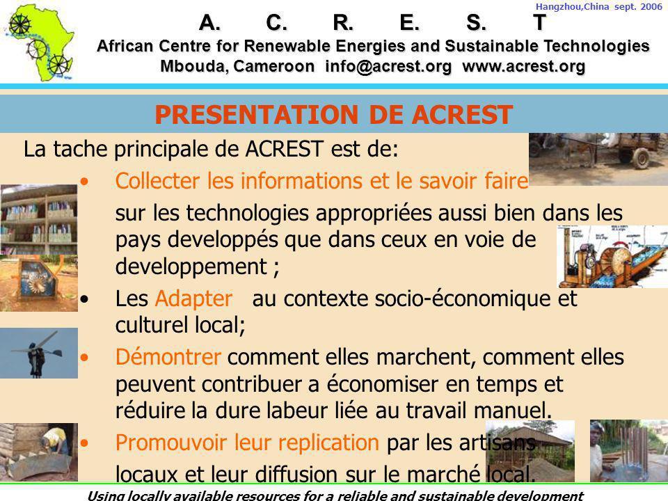 PRESENTATION DE ACREST