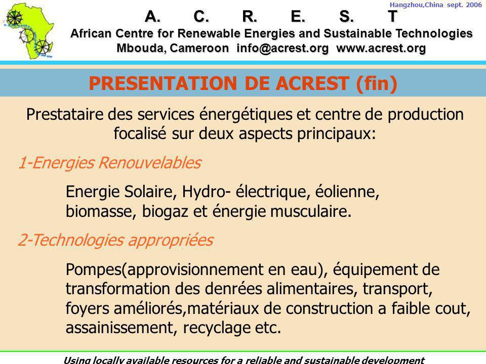 PRESENTATION DE ACREST (fin)
