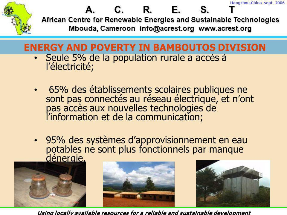 ENERGY AND POVERTY IN BAMBOUTOS DIVISION