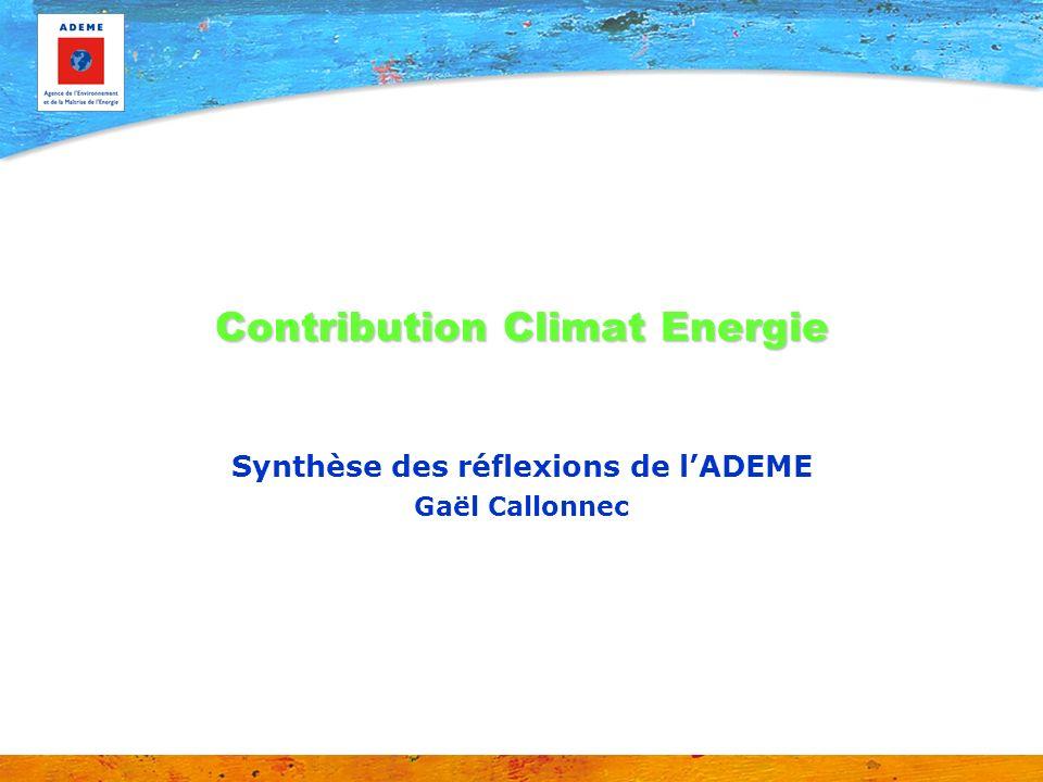 Contribution Climat Energie