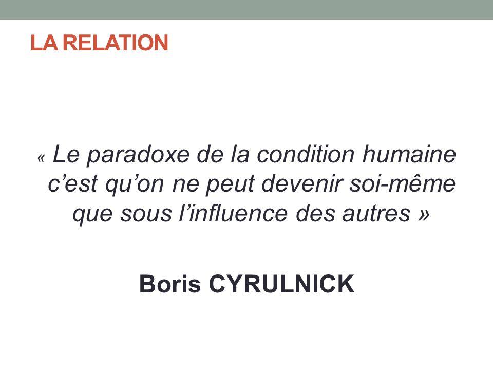 Boris CYRULNICK LA RELATION