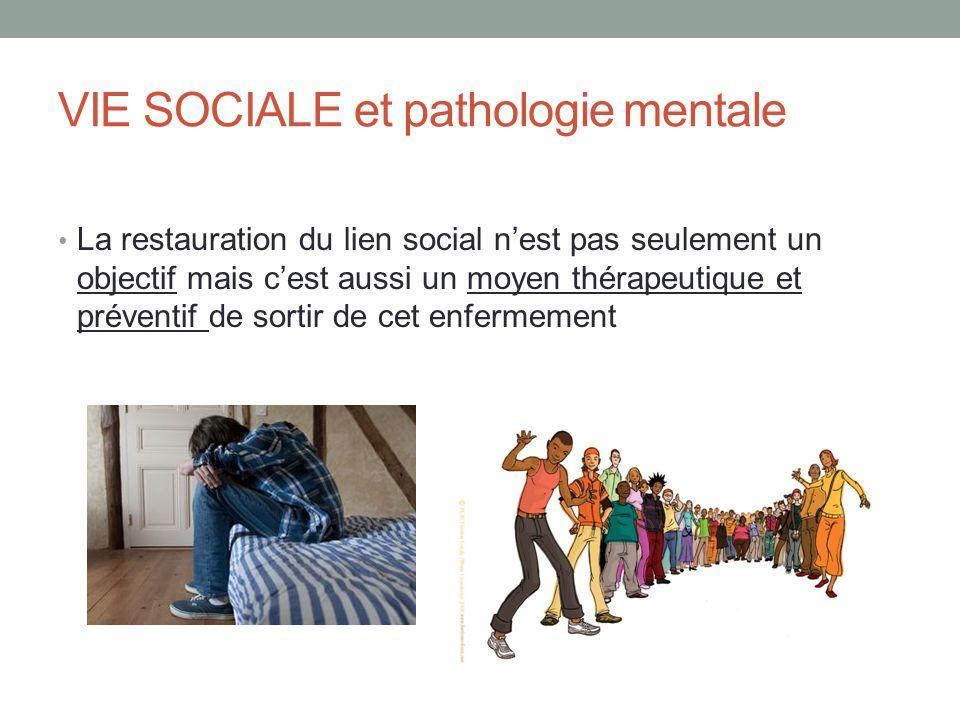 VIE SOCIALE et pathologie mentale