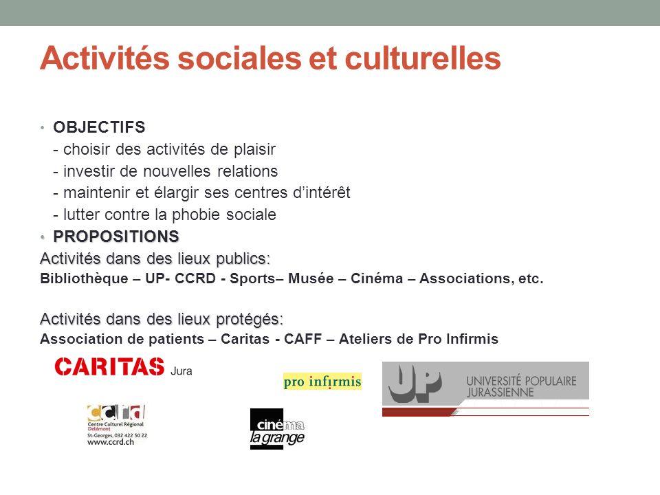 Activités sociales et culturelles