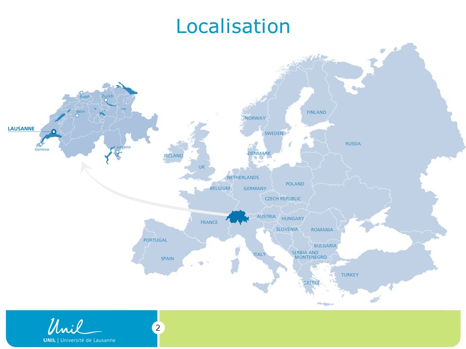 Localisation Switzerland is at the heart of Europe.