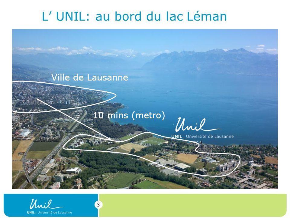 L' UNIL: au bord du lac Léman