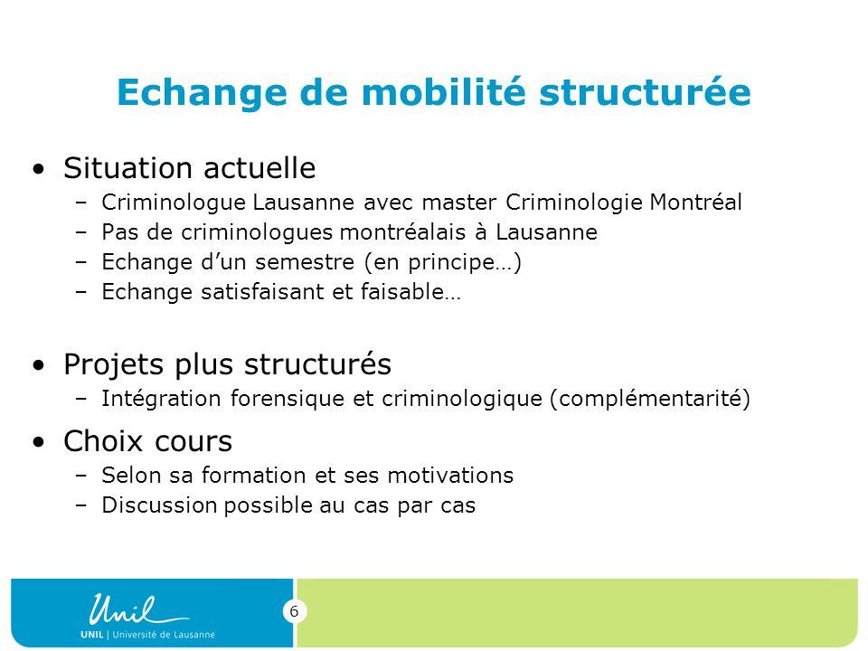 Echange de mobilité structurée
